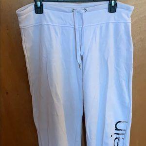 White Calvin Klein joggers